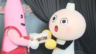 京都タワーのマスコットキャラクター「たわわちゃん」が14日、東京タ...