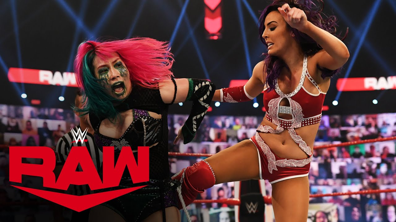 Charlotte Flair & Asuka vs. Lacey Evans & Peyton Royce: Raw, Feb. 15, 2021