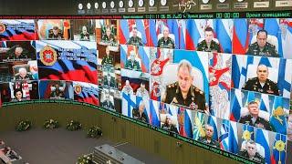 Селекторное совещание с руксоставом ВС РФ под председательством Сергея Шойгу (6.05.2020)