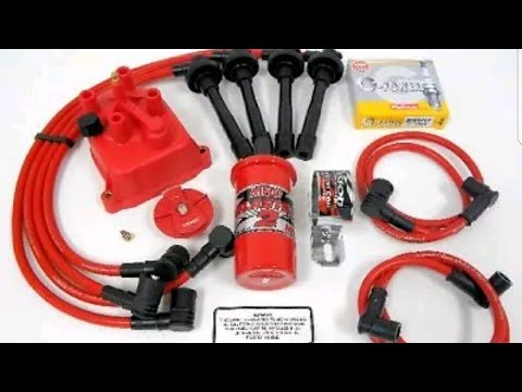 vms racing 94-01 acura integra gsr msd coil wires ngk plugs distributor kit  unboxing
