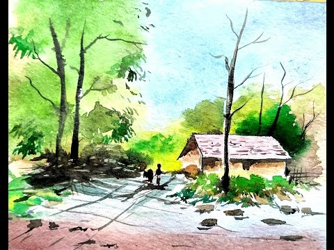 LANDSCAPE PAINTING | WATERCOLOR PAINTING | PAINT WITH DAVID