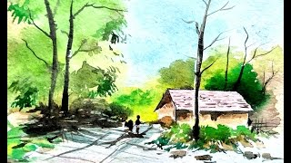 LANDSCAPE PAINTING   WATERCOLOR PAINTING   PAINT WITH DAVID
