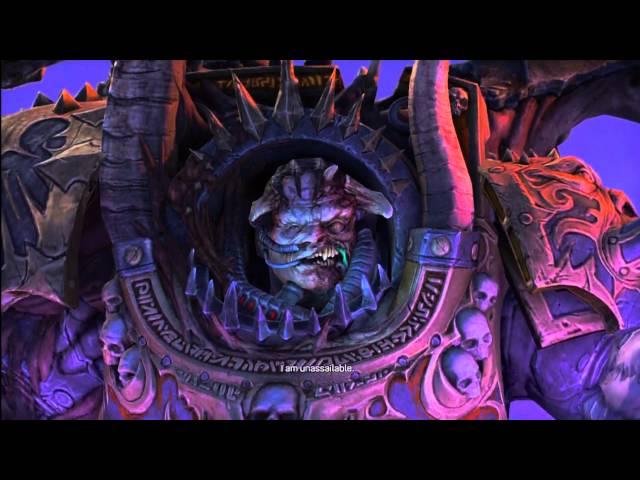 Warhammer Space Marine: Last Boss Fight + Final Cutscene