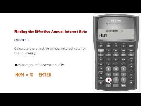 BA II Plus - Nominal & Effective Rate Conversions