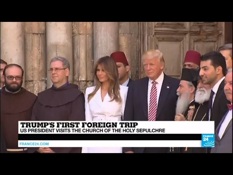 Israel: US President Donald Trump visits the Church of the Holy Sepulchre
