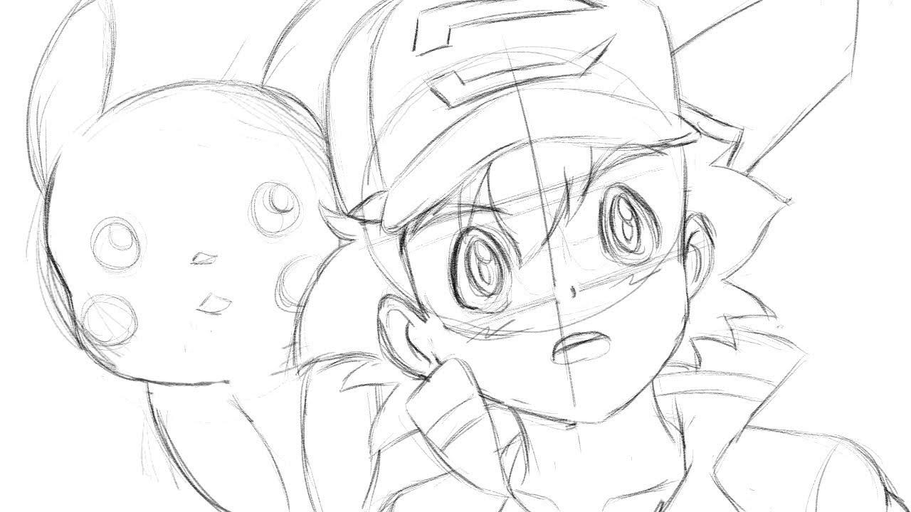 drawing ash pokemon movie 2018 sketch youtube Alien Movie Wallpaper drawing ash pokemon movie 2018 sketch
