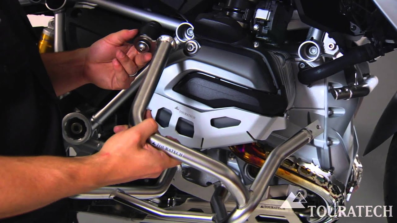 Install Bmw R1200gs Water Cooled Engine Crash Bars Youtube
