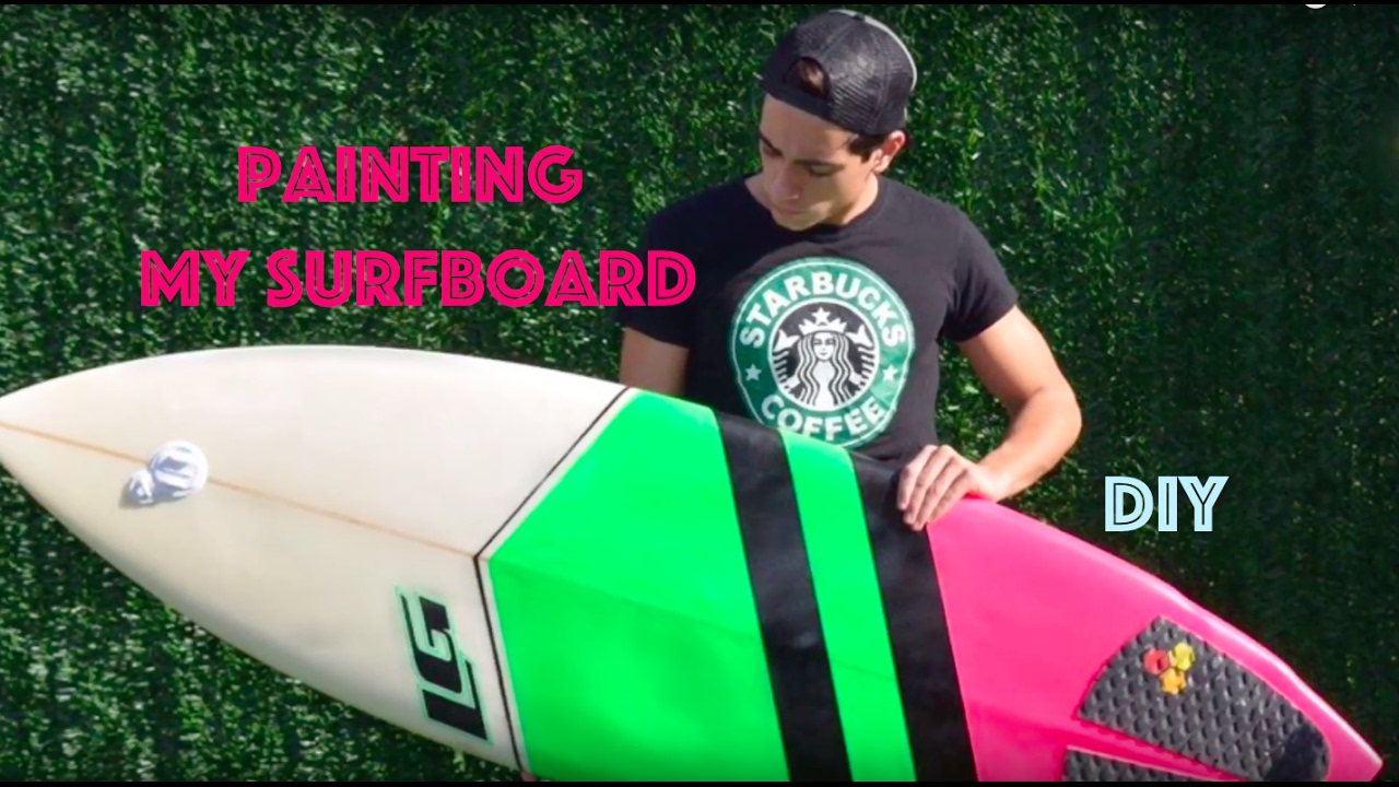 PINTANDO MI TABLA DE SURF // PAINTING MY SURFBOARD - YouTube