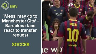 Barcelona fans gave their reaction on tuesday to the news that legendary star forward lionel messi has asked leave spanish la liga giants and ha...