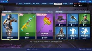 'NEW' BIZ SKIN et BIZZY WRAP! 22 juin New Skins - Fortnite Item Shop Live (Fortnite Battle Royale)