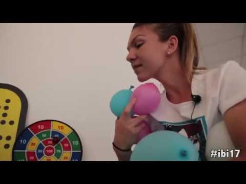 Simona Halep having fun at Italian Open