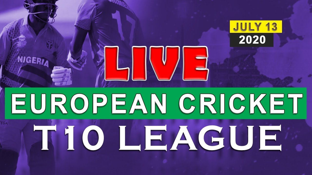 European T10 League Live Live Cricket Match Scores Today Gothenburg 2020 T10 Live Streaming Youtube