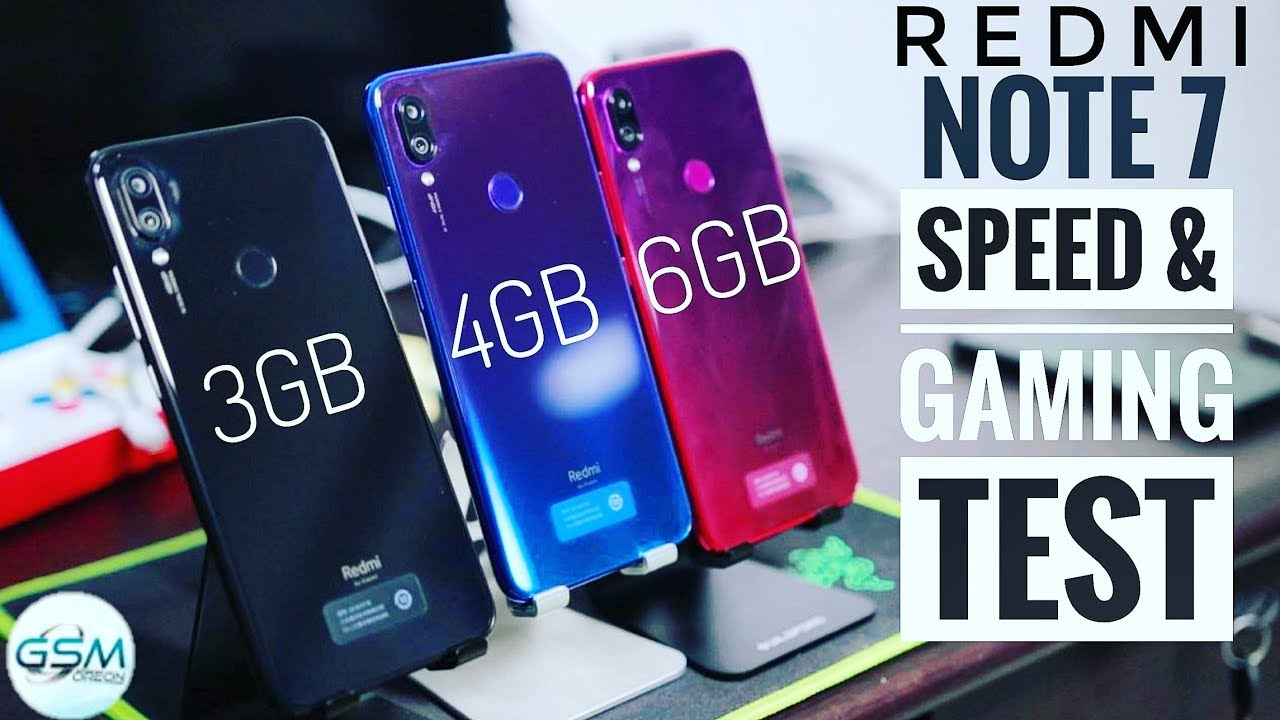 Redmi Note 7 3gb 4gb 6gb Speed Test Benchmarking Game Fps Test In Hindi India Youtube