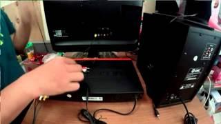 Cara menghubungkan kabel RCA dari DVD ke Aktif Speaker dan TV LED