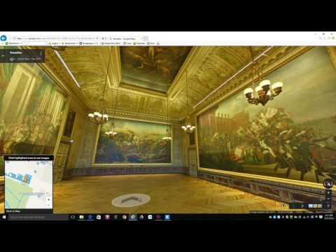 Video Dominion - Inside The Palace of Versailles in France Google Maps Exploration PT2