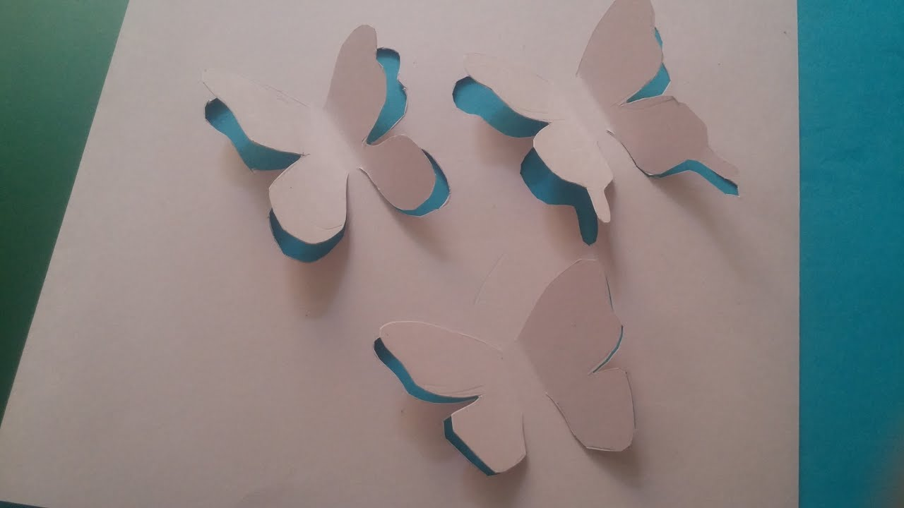 Hand MakeButterfly Trio 3D Hand Cut CardYouTube
