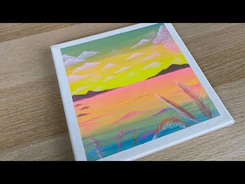 Cute Spongebob Painting Idea Easy Acrylic Painting Painting For Beginner Satisfying 27 Youtube
