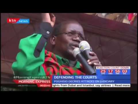 KANU leaders: Respect the Judiciary and it's independence