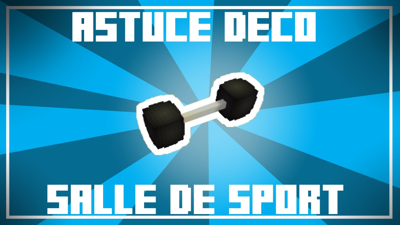 astuce d co 8 id es pour une salle de sport dans minecraft youtube. Black Bedroom Furniture Sets. Home Design Ideas