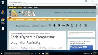 How to Install Chris's Dynamic Compressor for Audacity on OS X and Windows