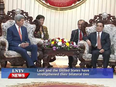 Lao NEWS on LNTV: Laos and the United States have strengthened their bilateral ties.26/1/2016