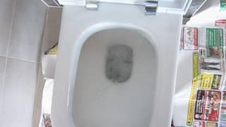 Jak spláchnout závěsný záchod bez tlačítka.