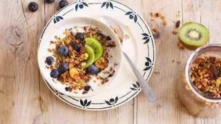 Alpro Recipe - Granola Kiwi & Blueberry Breakfast