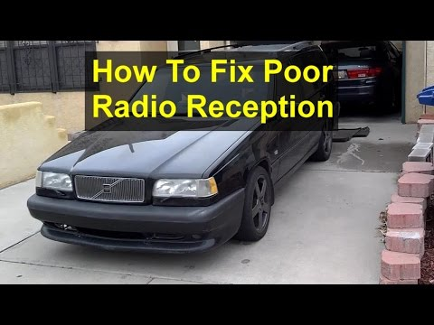 How to fix the poor radio reception problem, Volvo 850 wagon, antenna installation. - REMIX