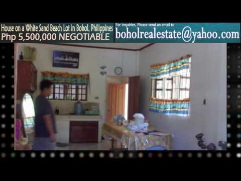 CHEAP HOUSE IN A WHITE SAND BEACH LOT FOR SALE IN BOHOL PHILIPPINES
