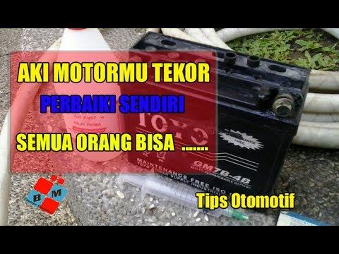 Cara Memperbaiki Aki Kering Motor Matik Yang Tekor Youtube