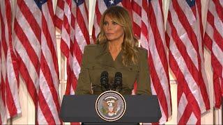 Melania Trump's RNC Speech Recognizes Toll of COVID-19