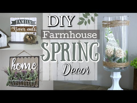 DIY Farmhouse Spring Decor Ideas | Dollar Tree DIY Home Decor 2019 | Krafts by Katelyn