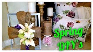 3 Spring DIYs under ~ $20 Spring Decor DIY ~ Farmhouse Cottage Inspired