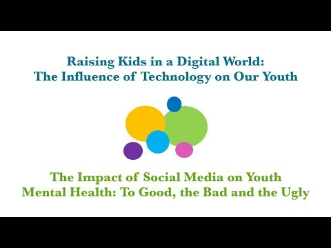 The Impact of Social Media on Youth Mental Health: The Good, the Bad and the Ugly (SCIP Talk 2018)