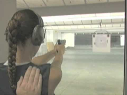 Lisa Marcos at the Gun Range