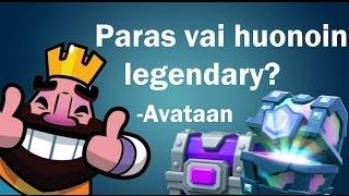 Avataan Legendary & Epic Chest! - Paras Vai Huonoin Legendary Clash Royalessa? - CR Suomi