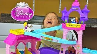 Super Cute Disney Princess Aurora & Rapunzel Klip Klop Stable! Disney Princess Toys