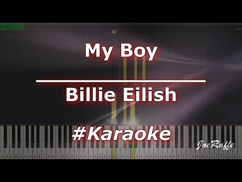 Billie Eilish  - My Boy KaraokePianoTutorialInstrumental