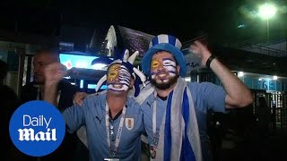 Uruguay fans elated as they beat Portugal to reach quarter-finals