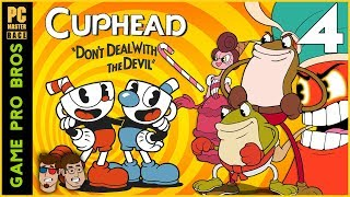 Cuphead - Ribby & Croaks, Baroness Von Bon Bon, AND Djimmi the Great   PART 4 - Game Pro Bros