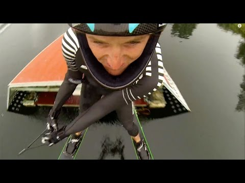 Waterski Jumping from a different angle with GoPro (Jump Skiing)