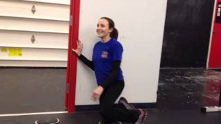 Working on Half Kneeling Position with Cerebral Palsy