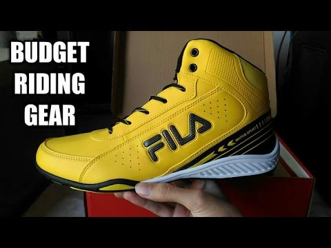 fila gear. fila ivanzo motorsport shoes | budget riding gear under 60$ rev it up s