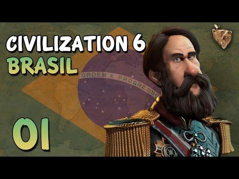 "Civilization 6 Brasil #01 ""Um país tropical"" - Vamos Jogar Civ 6 Gameplay Português PTBR"
