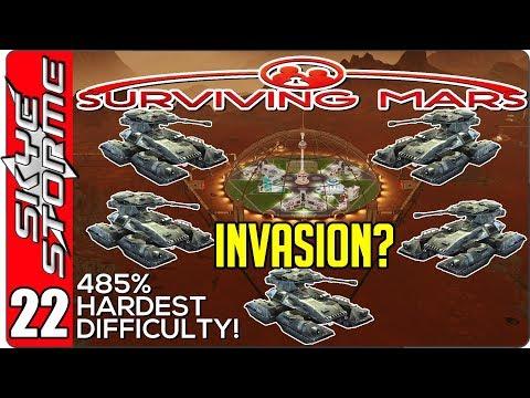 Surviving Mars Gameplay Ep 22 ►INVASION?◀  485% HARDEST DIFFICULTY PLAYTHROUGH