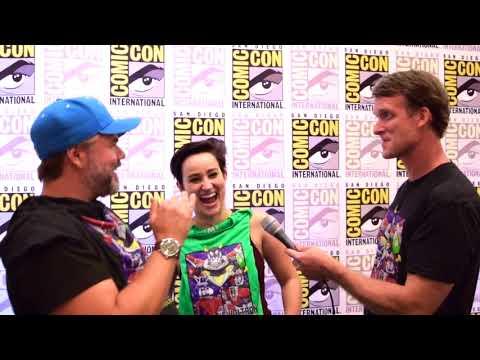 Bex Taylor-Klaus & Tyler Labine are interviewed at SDCC for Voltron Legendary Defender