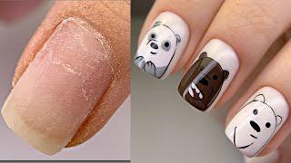 Сильно прилипшая кутикула Покажу секрет как убрать Милый дизайн ногтей Чистый маникюр