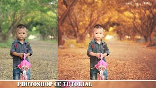 Autumn Effect Editing Photoshop Tutorial (Summer Color)