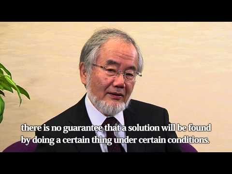 Message from Yoshinori Ohsumi -THE 2012 KYOTO PRIZE