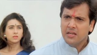 Govinda, Karishma Kapoor, Raja Babu - Romantic Scene 16/21